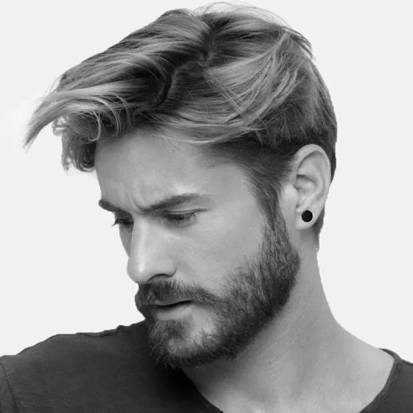 stainless steel black stud men earringsspice your style