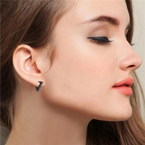 54ba159a6 Triangle Stainless Steel Hoop Men Earrings | Earrings for Men