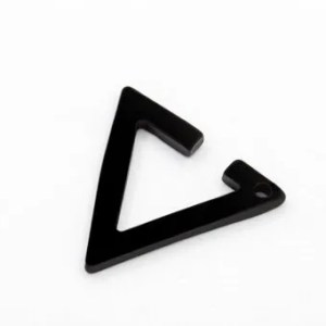 Black Triangle Clip Ear Cuff Earrings Men