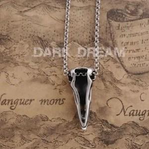 Viking Raven skull Necklace