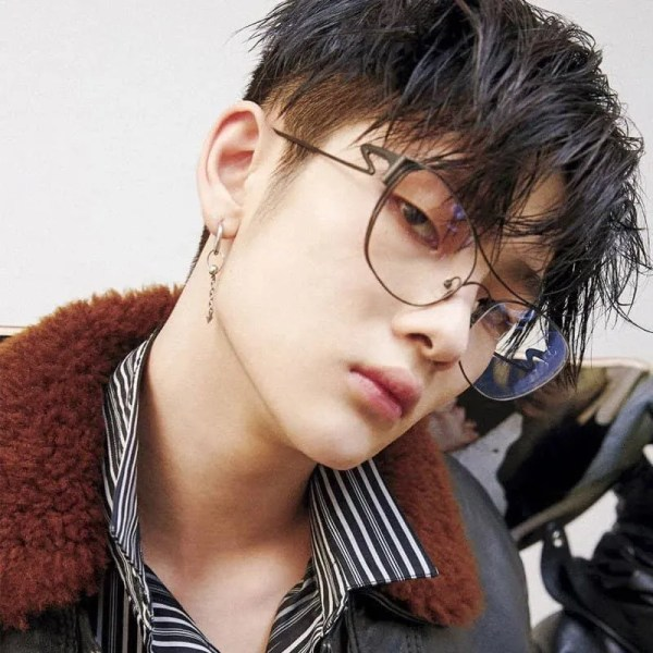 BTS Circle Stainless Steel Drop Earring Mens