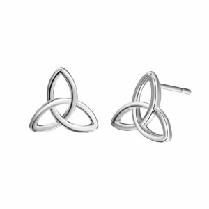 Triangle Infinite Loop Stud Earring Men