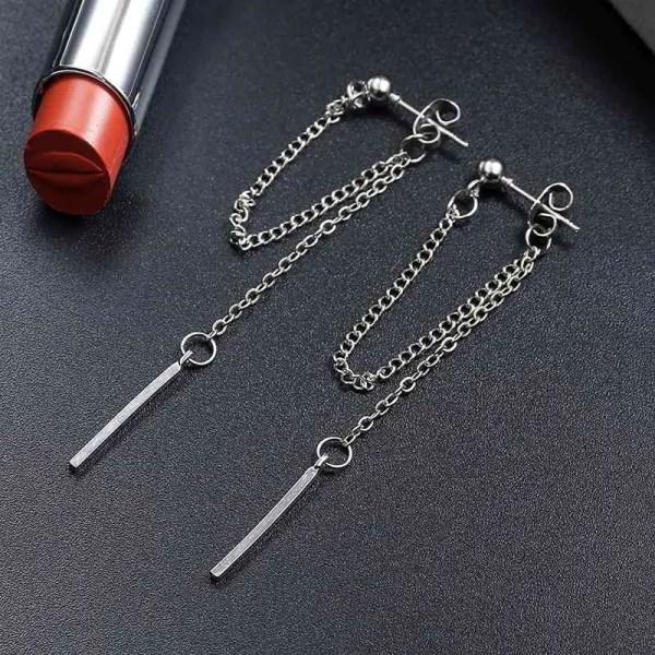 Cute Long Dangle Chain Earrings