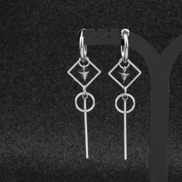 KPOP Earrings for Men Dangle Asymmetric Earring 3