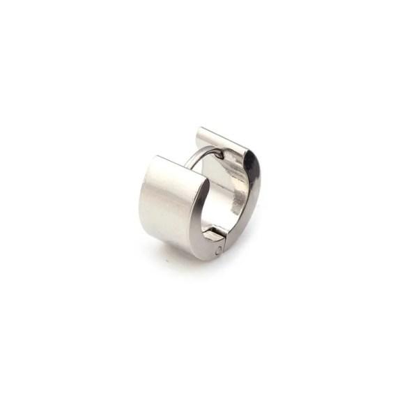 Round Stud Earrings Stainless Steel Men 3