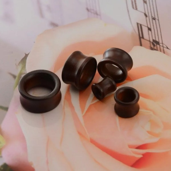 Wood Plugs and Tunnels Ear 8-25mm 2