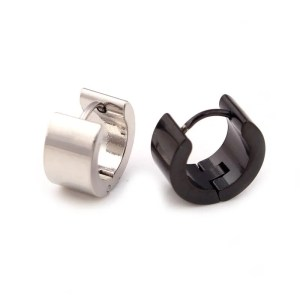 Round Stud Earrings Stainless Steel Men 1