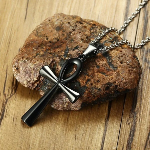 Ankh Cross Necklace Pendant Stainless Steel 4