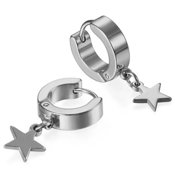 Star Hoop Earrings for Men 2