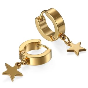 Star Hoop Earrings for Men 1