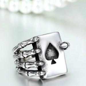 Claw Finger Poker Ring Gothic Stainless Steel for Men 2
