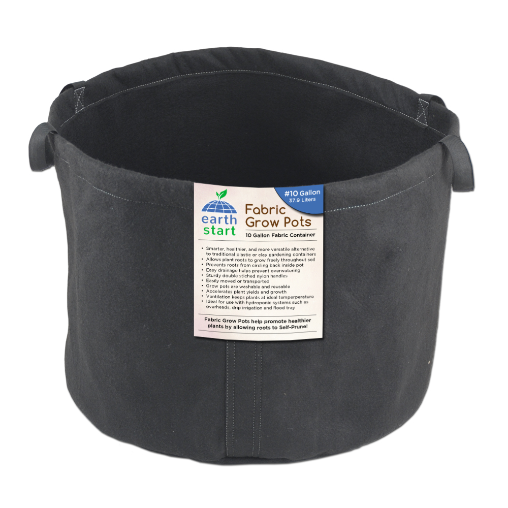 10 gallon earthstart fabric grow pot