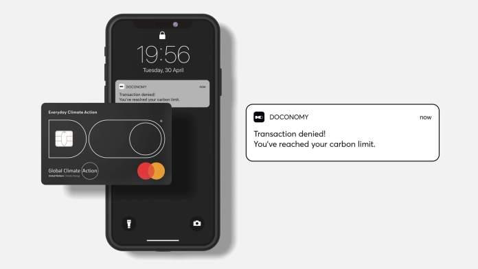 doconomy carbon credit card design dezeen 2364 hero 1