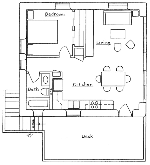 Two bedroom garage apartment plans for 3 bay garage with apartment above plans