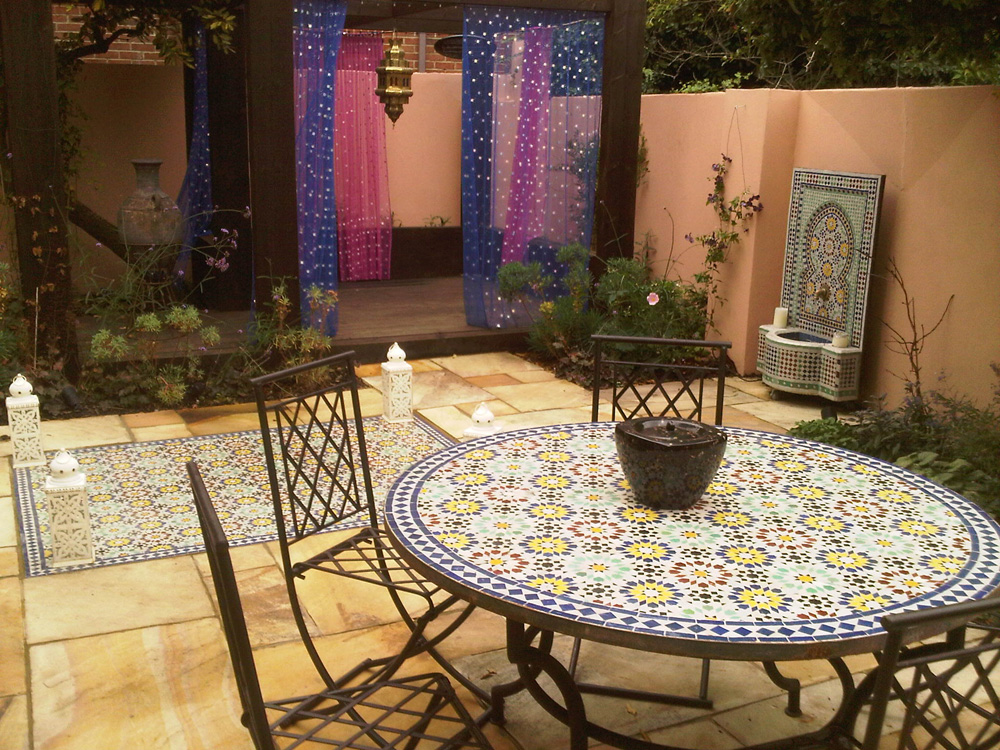 Moroccan Garden Design Greenwich London - Earth Designs ... on Moroccan Backyard Design  id=36345