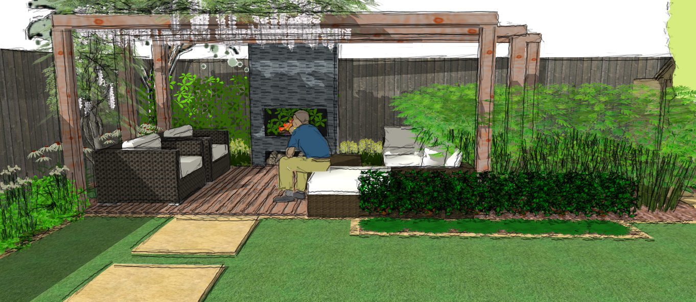 A Modern Garden Design Presentation - Split level - Earth ... on Split Garden Ideas id=19498