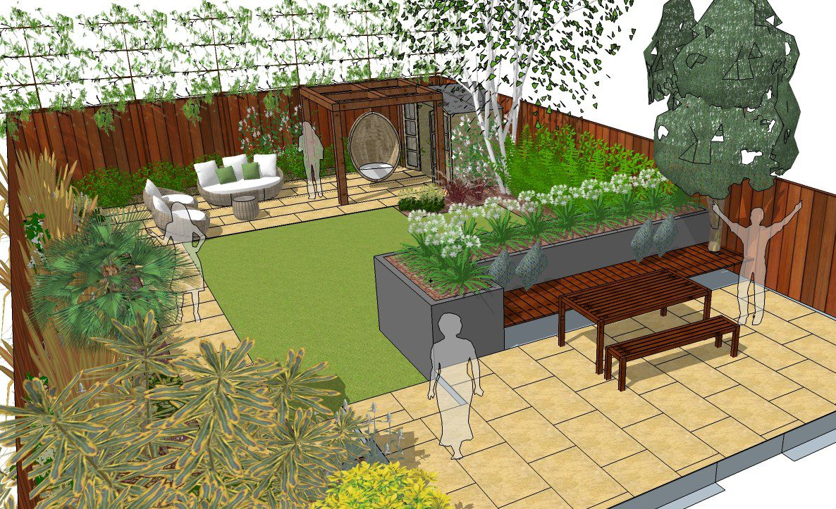 Loughton Garden Designer needed to help us with our space ... on Patio Shape Designs id=73137