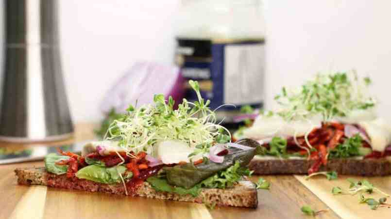 Use Sprouted Seeds on sandwhiches like this pickled herring sandwich.