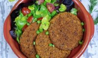 Low Fat Vegan Bean Burgers by Chrissy Faery