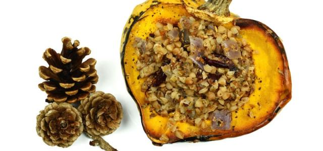 Winter Squash Stuffed with Buckwheat Recipe