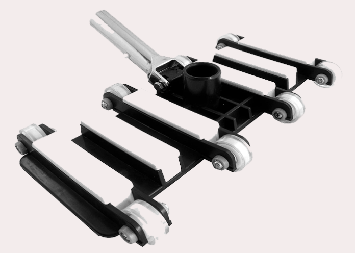 white and black pool cleaner