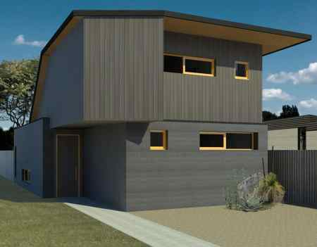 The Cobalt is a 2-bedroom house design by EarthHouse, which designs and builds rammed earth homes in Melbourne and the Mornington Peninsula