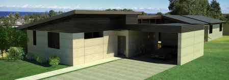 The Courtyard - EarthHouse designs and builds rammed earth houses and homes in Melbourne and the Mornington Peninsula