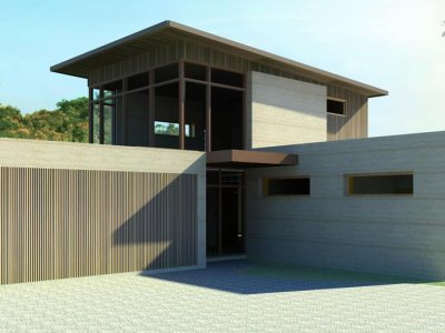Earth House is building this stunning rammed earth home for a client in Mornington.