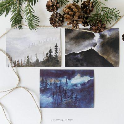 Lot de 3 cartes postales Paysage d'Auvergne