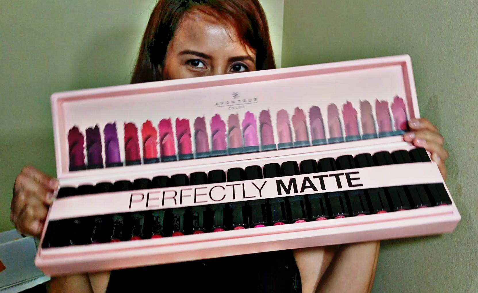 Swatch Party Avon True Color Perfectly Matte Lipstick Shades Review