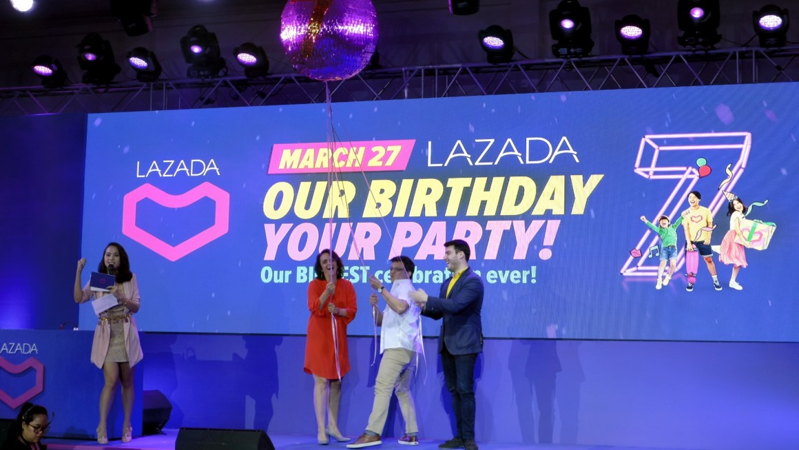 Lazada 7th Birthday Party Treat on March 27