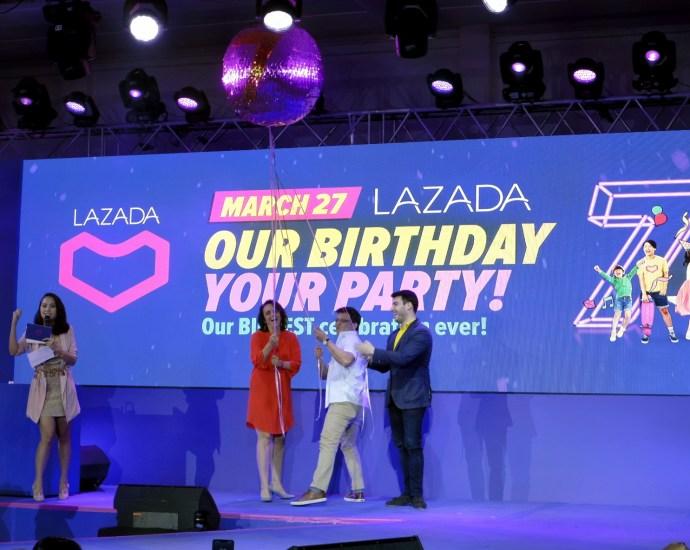 Lazada 7th Birthday Party Treat on March 27