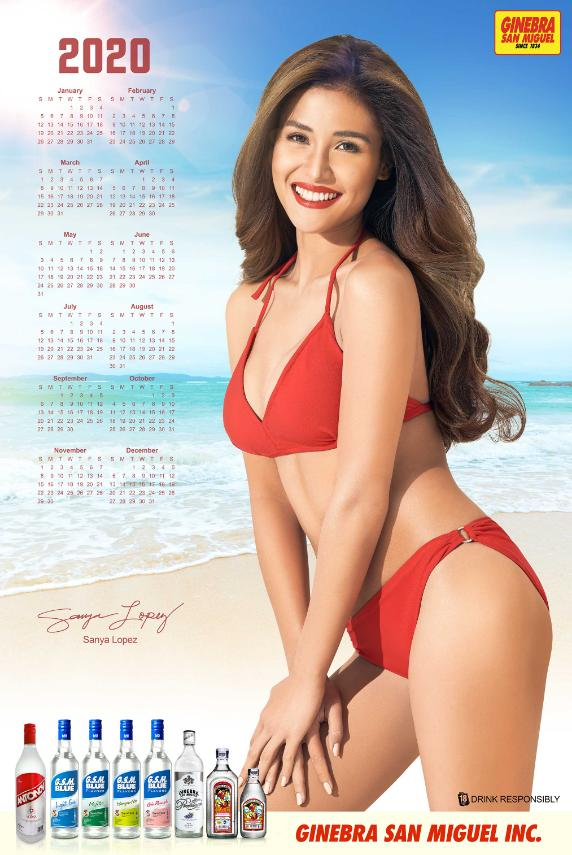 Ginebra San Miguel Calendar Girl Sanya