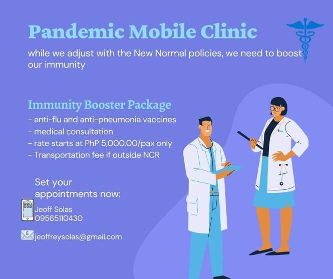 A Pandemic Mobile Clinic to Get your Immunization Shots by Licensed Doctors