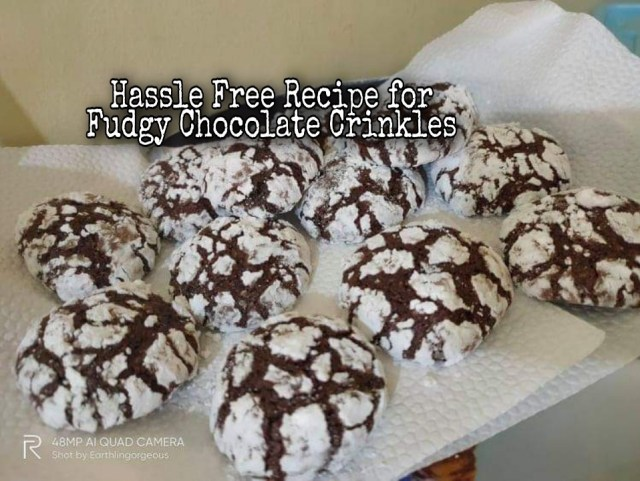 Hassle-free Recipe for Fudgy Chocolate Crinkles