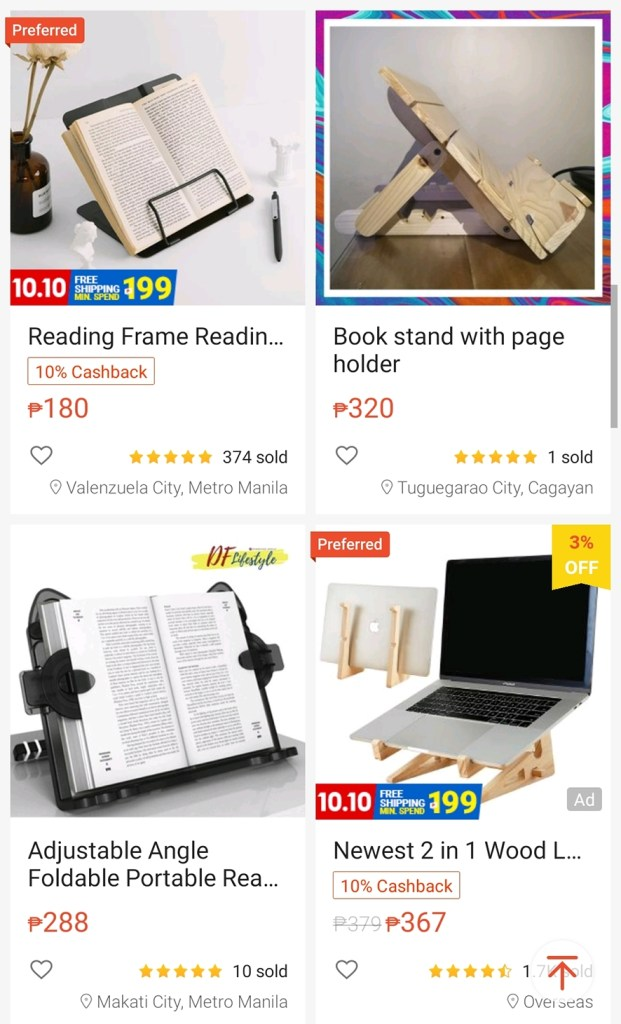 Book stand Online classes easier