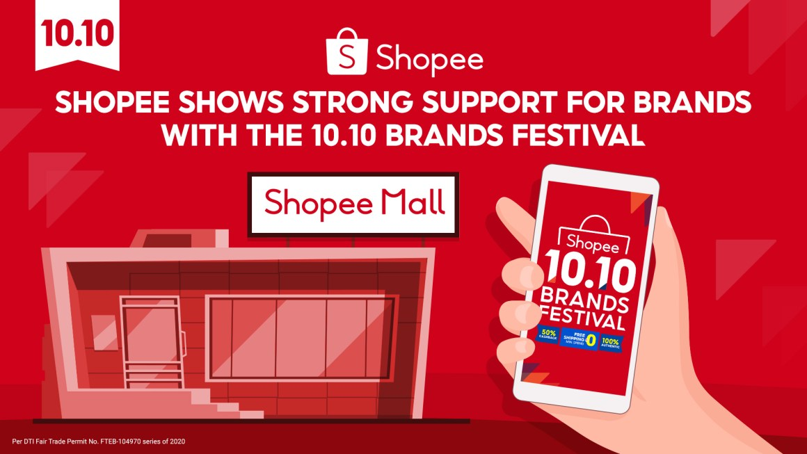 Shopee 10.10 Brands Festival Sale Strengthens support for Brands to reach millions of customers