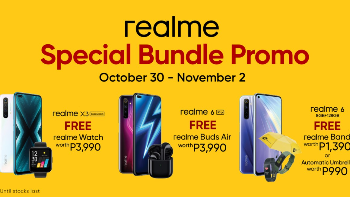 Take Advantage of Early Holiday shopping with realme Special Bundle promo on October 30 – November 2