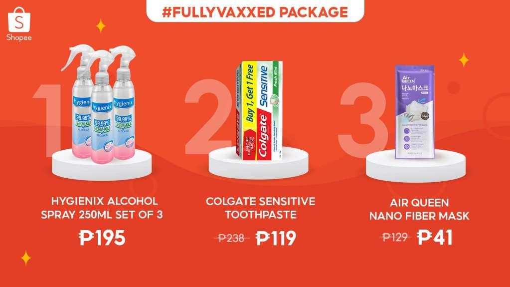 Shopee Fully Vaxxed Paackage