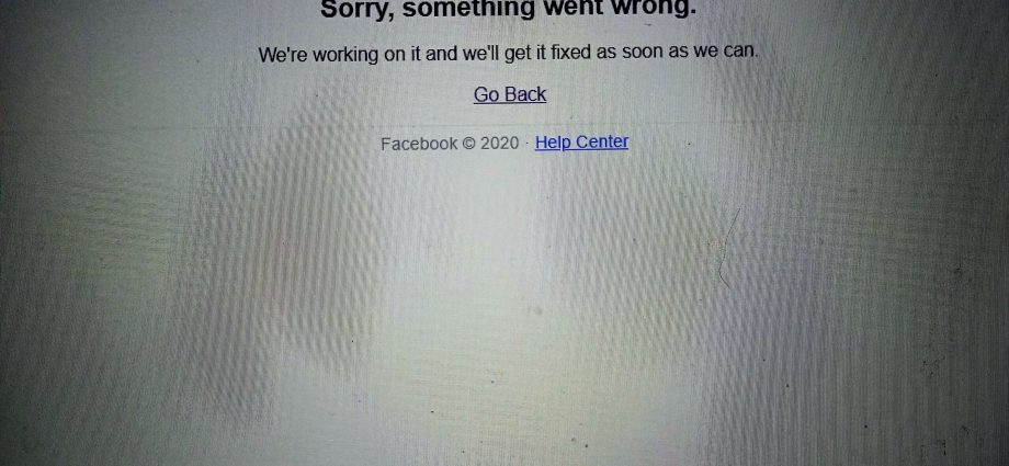 Facebook is down #FBdown #fboutage