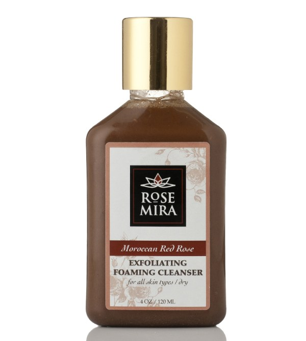 Moroccan Red Rose Exfoliating/Foaming Organic Cleanser