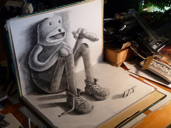 3D Sketchbook Drawings By Nagai Hideyuki Earthly Mission