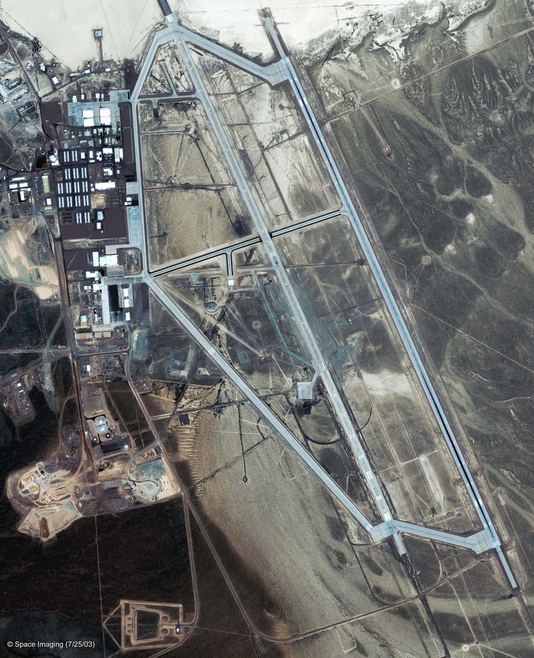 Veduta aerea Area 51