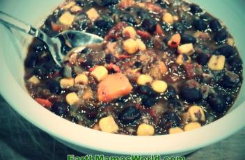 Vegetable Black Bean Soup:  EarthMamasWorld.com