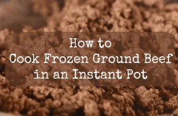 How to Cook Frozen Ground Been in an Instant Pot