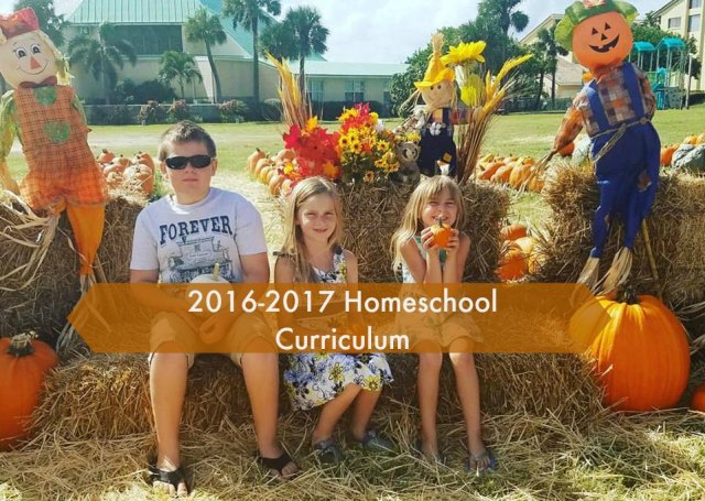 Our 2016-2017 Homeschool Curriculum