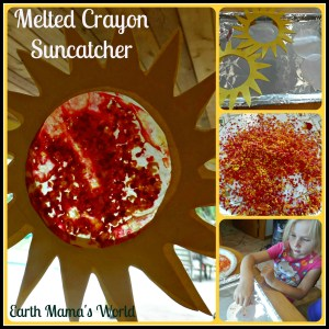 Melted Crayon Suncatchers