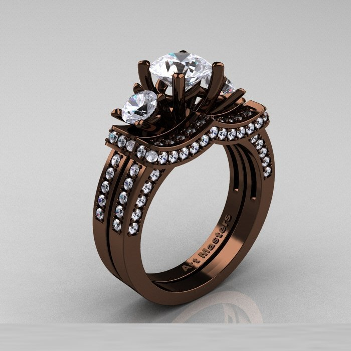 Chocolate Gold Wedding Rings Wedding And Bridal Inspiration