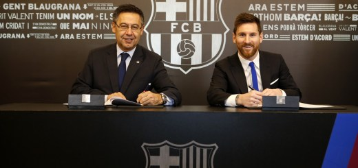 Lionel Messi Extends Contract At Barca Till 2021
