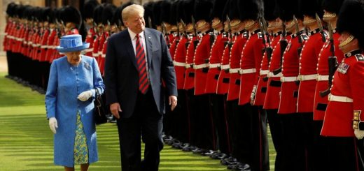 President Trump Blames #FakeNews for Reports He Was Late to Meeting With Queen Elizabeth [VIDEO]